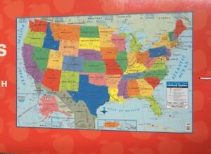 Large Usa United States Map Poster Size Wall Decoration 40 X 28 Ebay