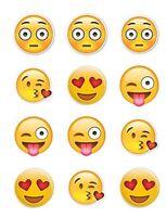 Twelve 2 Emoji Edible Cupcake Toppers