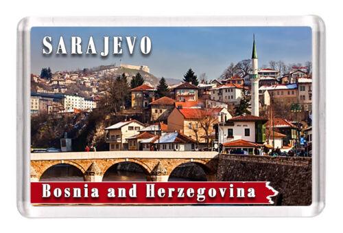 "Sarajevo Fridge Magnet Travel Souvenir 3/""x2/"" Bosnia and Herzegovina"