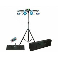 Showtec Qfx Led Lighting Bar Kit Paquete-Derby, Strobe & láser gigbar efecto
