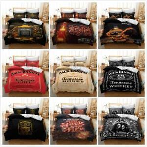 Details zu Neu 3 Tlg Jack Daniels Bettwäsche 135x200 200x200 240x220 Bettbezug Kissenbezug