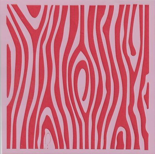 Anillos De Árbol - C014 Decoupage naturaleza Madera chatarra de reserva Plantilla de 13cmx13cm