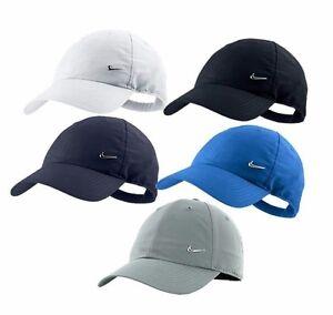 Nike Metal Swoosh Logo heritage Hat Cap Gorro Black White Navy Blue ... a91cd01a94
