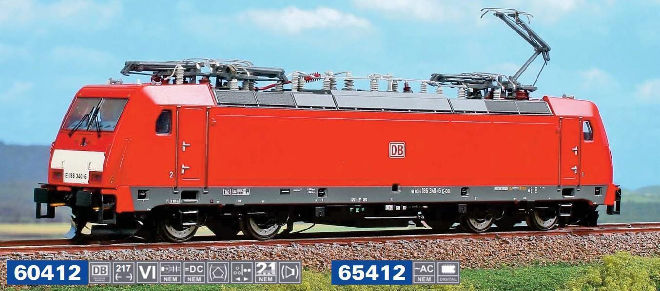Per Märklin Acme 65412 E-Lok 186 329 Db-Schenker Ep Vi Nuovo Conf. Orig.