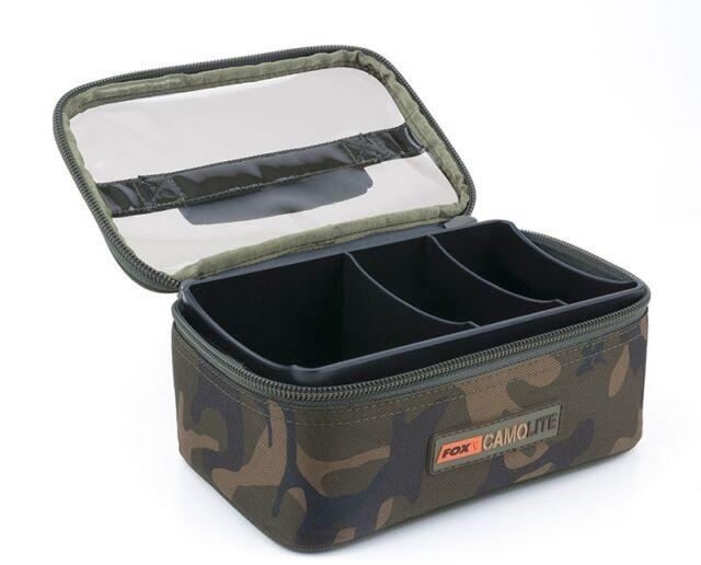 Fox Camolite Rigid Clear Top Lead & Bits Bag CLU312 Carp Fishing Luggage