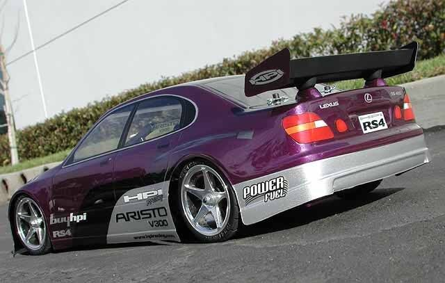 Custom Painted Body Lexus GS 400 for 1/10 RC Drift Cars Touring HPI 200mm