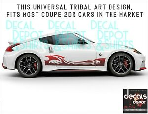 Fits-Nissan-350Z-370Z-Coupe-Sports-Nismo-Touring-Convertible-2X-Side-Stripes
