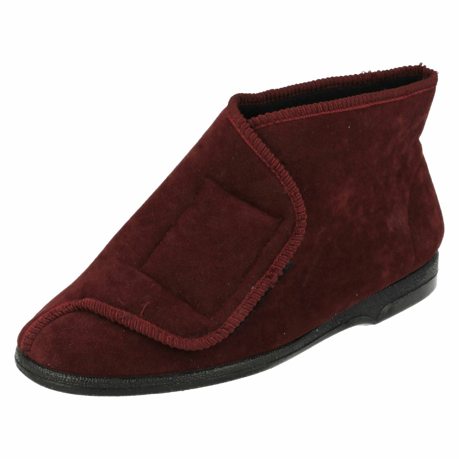 SALE Balmoral 'VB-M48' Slippers. Mens Wine Colour Boot Slippers. 'VB-M48' Wide Opening f4fa13