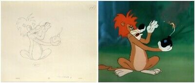 Original Final Production Drawing From Tex Avery S Slaphappy Lion