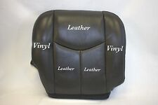 2005 2006 Chevy Silverado Truck Passenger Bottom Leather Seat Cover Dark Gray