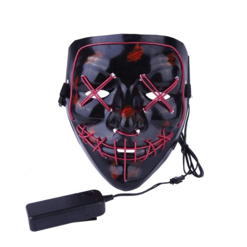 Halloween Scary Mask Cosplay Flash 3 Models LED Light Up Skull Face Costume Mask