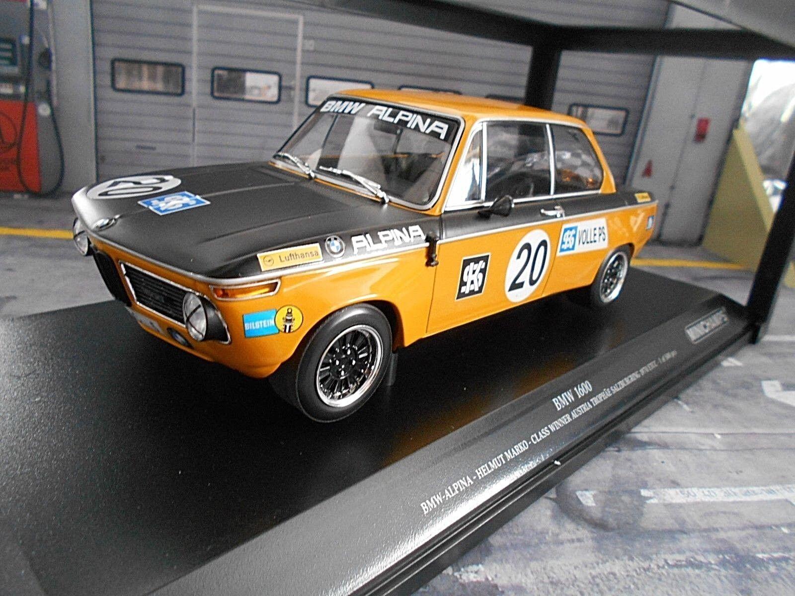 BMW Alpina 1600 1602 2002  20 Marko RTCC 1970 SALZBURGRING Austr MINICHAMPS 1 18