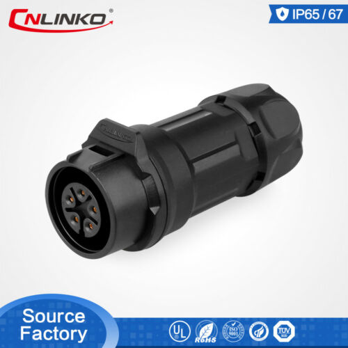 5Pin Waterproof IP67 M16 Circular Connector Cable For Power Distribution Cabinet