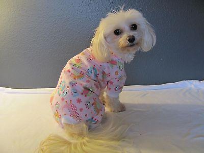 Pink with Stars Knit Pajamas PJ/'s Dog Puppy Teacup Pet Clothes XXXS Large