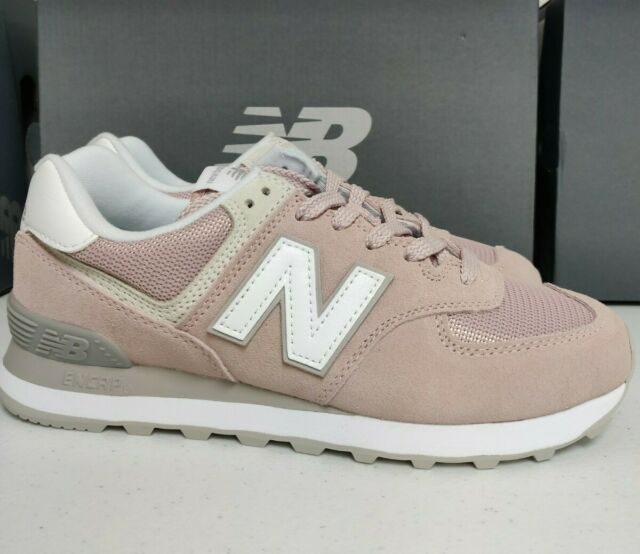 uk availability e9449 db4a3 New Balance 574 Womens Shoes Sneakers WL Casual Pink Faded Rose