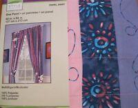 Style Selections Drape Curtain Swirl Away Purple Pink Blue 84l Nip
