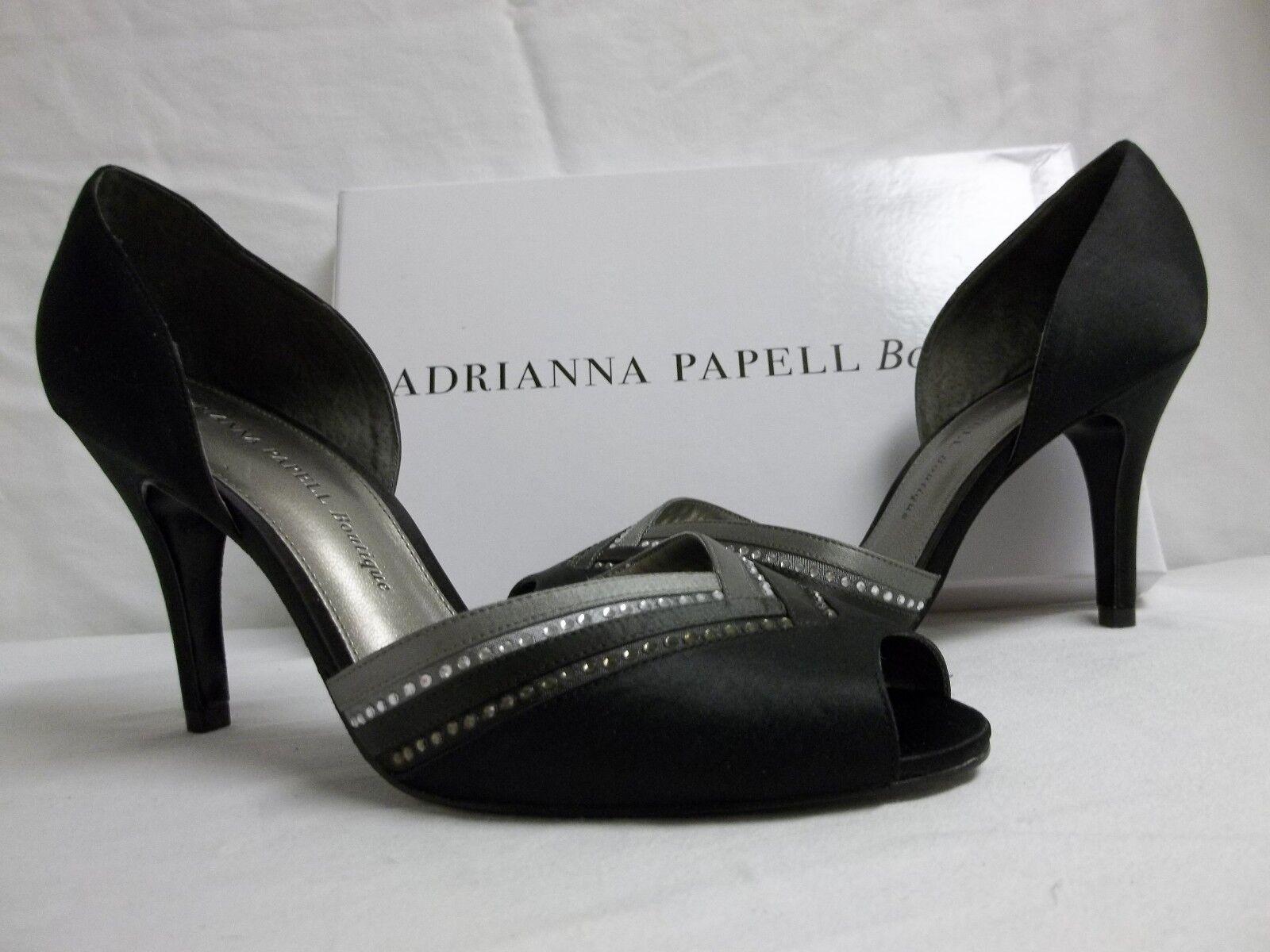 Adrianna Papell Boutique Talla 9 M Gambit Satén Puntera Puntera Puntera abierta Tacones nuevo Zapatos para mujer  gran descuento