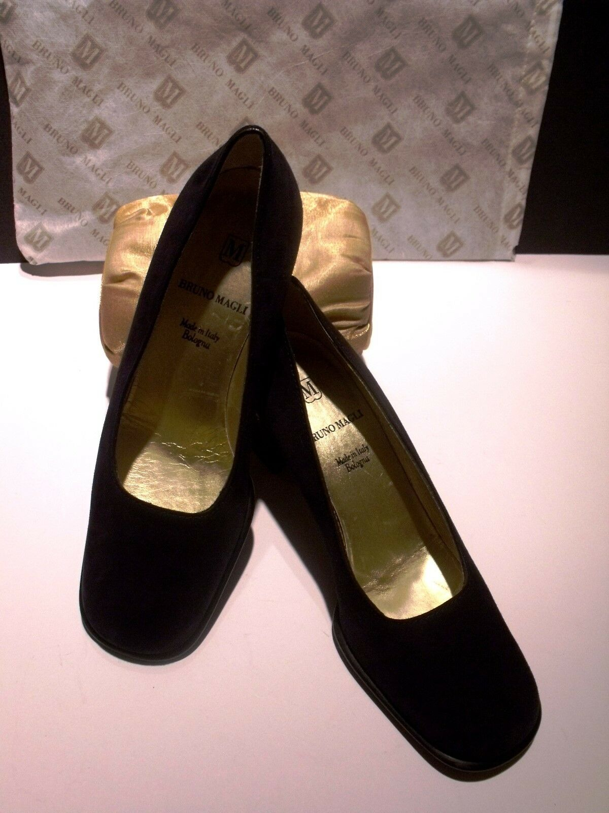 Exquisite BRUNO MAGLI Navy Suede Schuhes Sz 6 BPerfect.