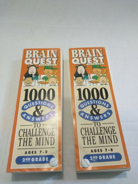 Brain Quest Grade 2 Ages 7-8, 1000 Questions & Answers (Great For Home School)