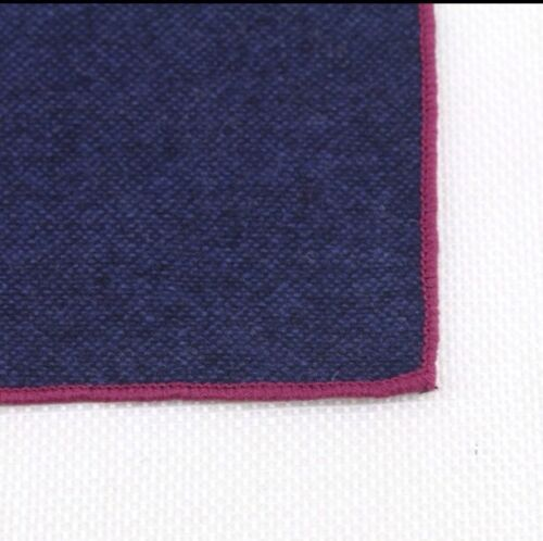 Reino Unido. Excelente calidad y opiniones Nuevo Azul Marino Oscuro Tweed Lana Bolsillo Plaza