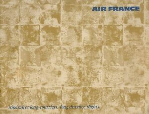 c1960s Aviation Vintage Air France Airlines Route Map Booklet | eBay