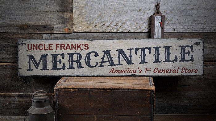 Mercantile Decor, Mercantile Sign -Distressed Wooden Sign ENS1001955