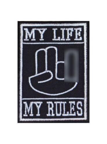 MY LIFE MY RULES Shocker Main 2-1 Biker patch écusson OEM JDM CAR TUNING SCENE