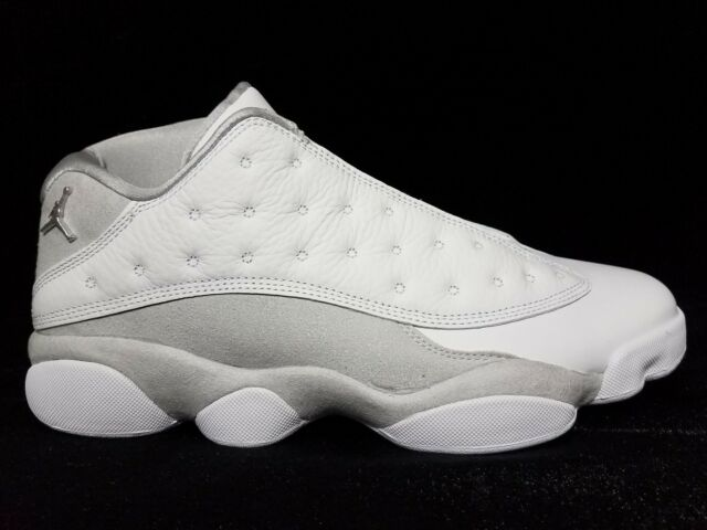 20284238e74 Nike Air Jordan Retro 13 Low Pure Money Size 10 White Silver 310810 ...