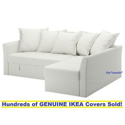 Ikea HOLMSUND Corner Sofa Bed Sectional Cover Slipcover RANSTA WHITE New in  Box | eBay