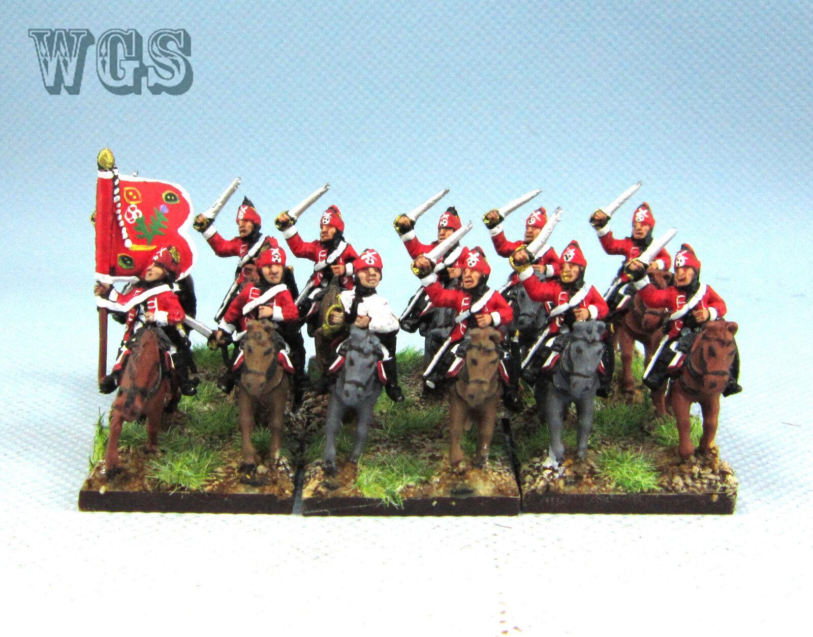 15mm Syw Seven Years War un Pintado británico luz Dragones (12 figuras) BB7