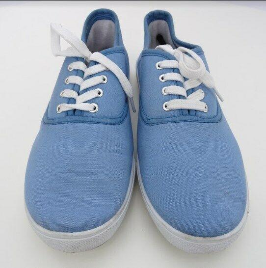 American Sweetheart Cotton Canvas Blue Womens Casual Wear Shoe Size 9W NWOB