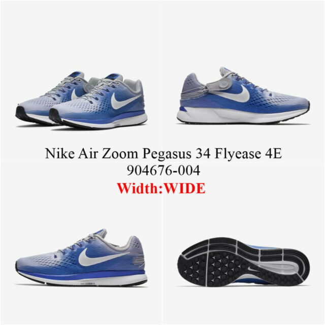 half off 5210f 53b64 NIKE AIR ZOOM PEGASUS 34 FLYEASE 4E <904676 - 004>.Men's Running Shoes  (WIDE)