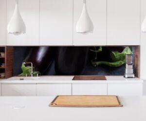 Details zu Aufkleber Küchenrückwand Auberginen Obst Gemüse Küche Folie  Spritzschutz 22A280