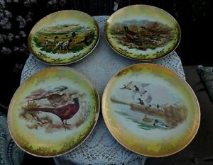 BAVARIA-Wild-Game-Plate-Plaque-Wall-Hanging-Decor-Charger-Set-of-4