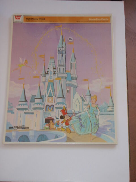 VINTAGE 1960s WALT DISNEY WORLD FRAME TRAY PUZZLE WHITMAN  MINT