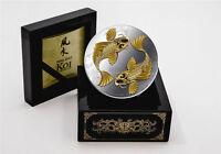 2012 Niue $2 Feng Shui Koi Coins 1oz Silver Proof - Original Laquered Box & Coa