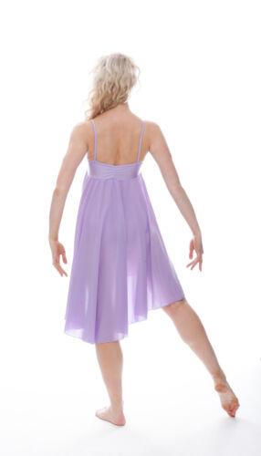 Femmes filles lilas plain lyrique robe contemporary ballet danse costume par katz