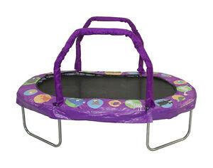 JK3866PR-JumpKing-Mini-Oval-38-034-X-66-034-With-Purple-Pad-Ages-6-Girls