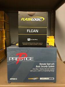 Prestige APS787Z 1-Way Remote Start Car Alarm /& ADSALCA Bypass Combo 2 pcs pkg