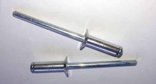 3.2 mm x 12 mm cieco POP RIVETTI SVASATI IN ACCIAIO INOX CORPO INOX GAMBO confezione da 50