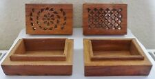 2 SMALL WOODEN TRINKET BOXES WITH LIDS