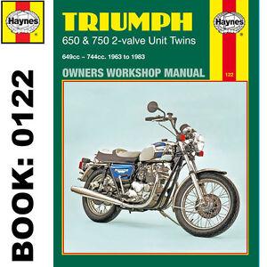 triumph 650 750 2 valve unit twins thunderbird bonneville 1963 83 rh ebay co uk triumph thunderbird service manual triumph thunderbird 900 workshop manual