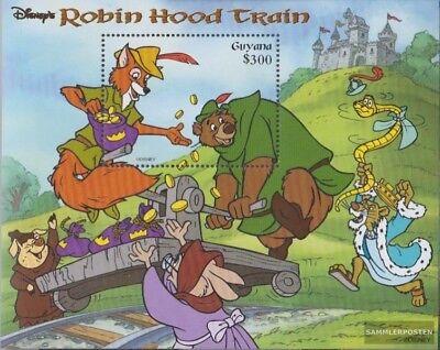 Postfrisch 1999 Walt Disney Zeichentrickfilm Structural Disabilities Efficient Guyana Block590 kompl.ausg.