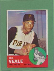 Details About Weird Printing Error 1963 Topps Bob Veale 87 Card Ufo Rainbow Streak Ex Mt
