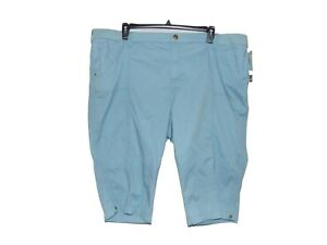 Lee-Relaxed-Fit-Skimmer-Shorts-24W-Medium-Women-New