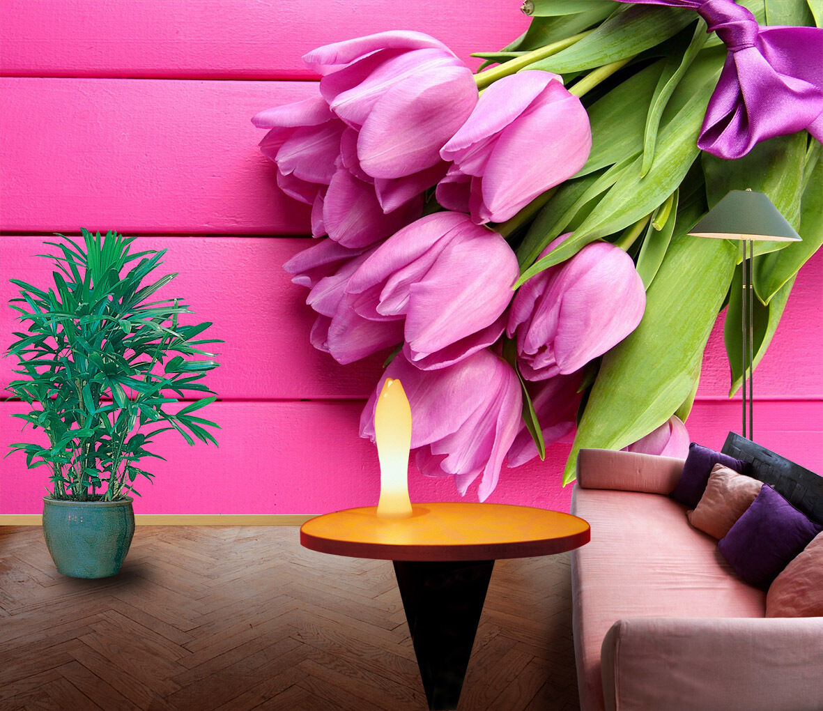3D Pink pinks 877 Wall Paper Print Wall Decal Deco Indoor Wall Murals