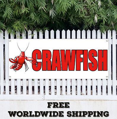 Banner Vinyl CRAWFISH FRESH Advertising Sign Flag Fresh Boil Boiled Seafood Food