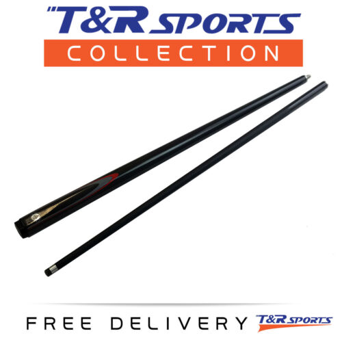 T&R Classic Graphite Billiards Snooker Pool Cue 2piece 57 Inch Black AU