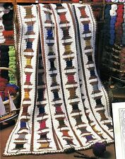 PRETTY Tailor's Fancy Afghan/Crochet Pattern INSTRUCTIONS ONLY