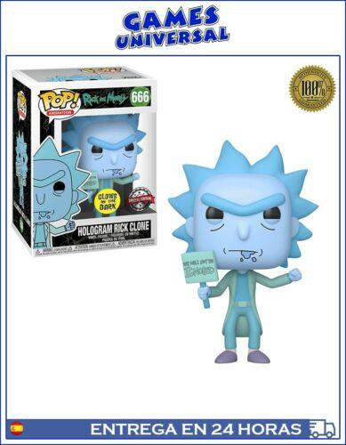 Funko Pop Hologram Rick Clone Special Edition Glows